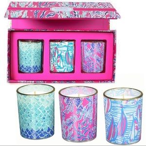 Lilly Pulitzer Candle Set, Three Candles/Patterns